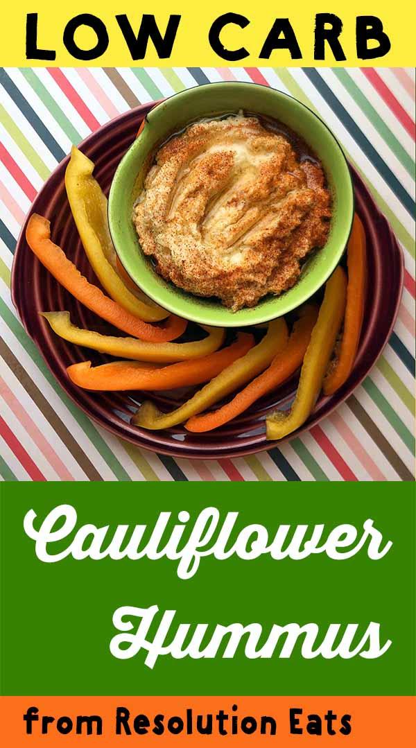 Low Carb Keto Paleo Cauliflower Hummus Recipe