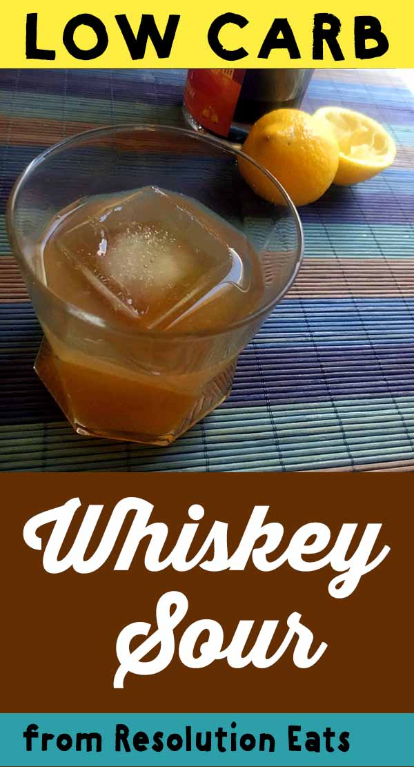 Low Carb Keto Whiskey Sour Recipe
