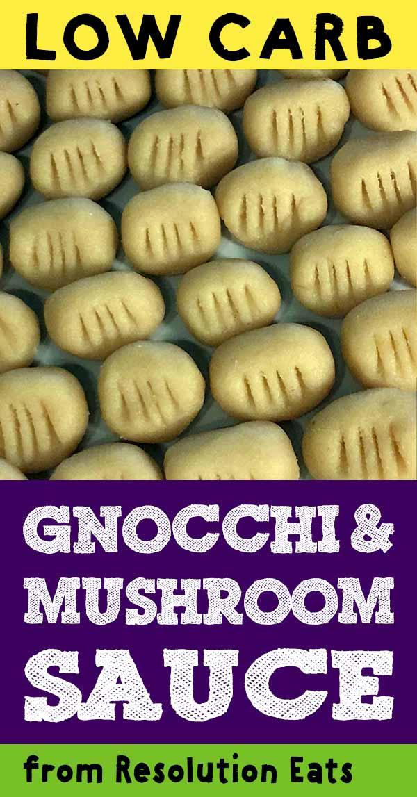 Low Carb Gnocchi with Mushroom Sauce Recipe