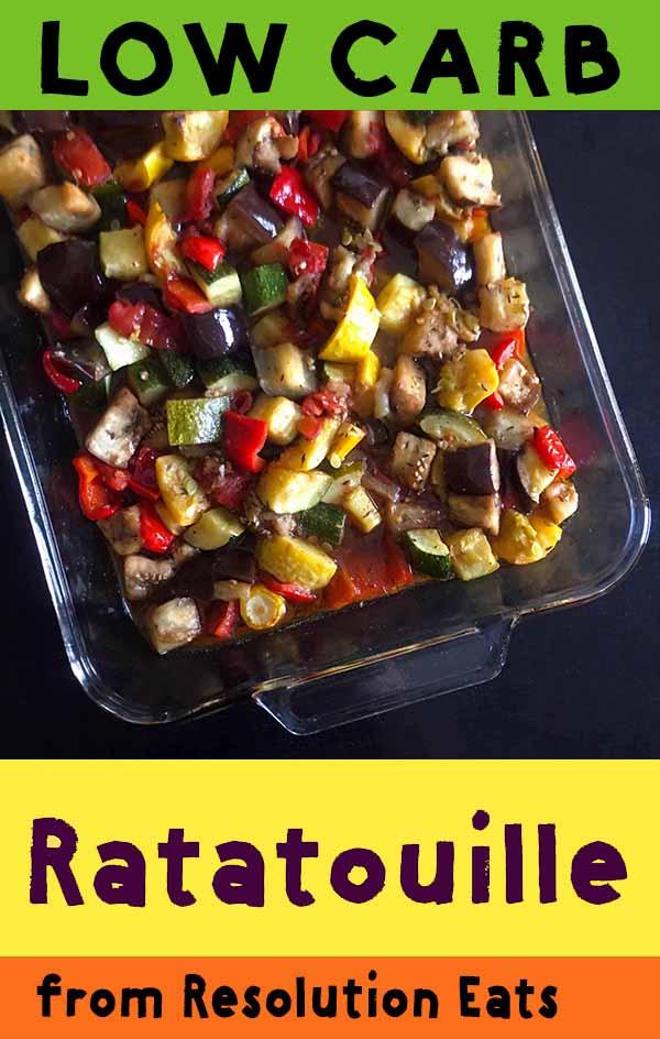 Low Carb Keto Paleo Whole30 Ratatouille Recipe