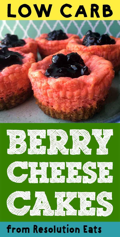 Low Carb Keto Berry Mini Cheesecakes Recipe