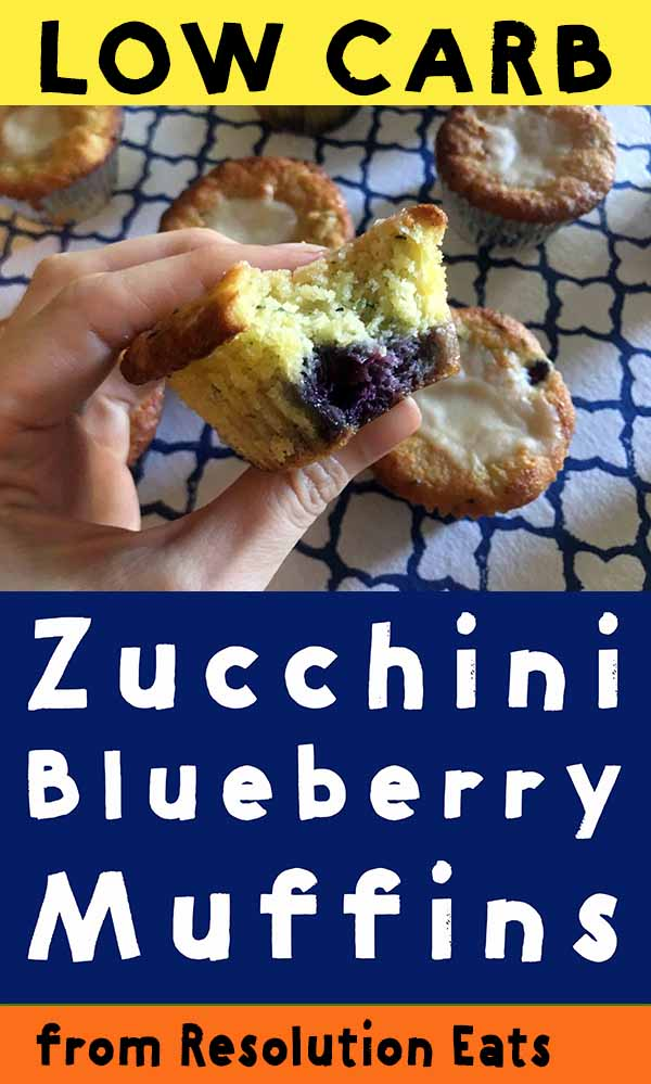 Low Carb Keto Zucchini Blueberry Muffin Recipe