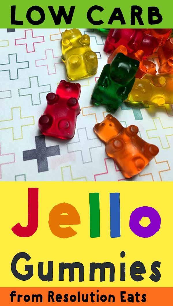 Low Carb Keto Sugar Free Jello Gummy Bear Candy Recipe