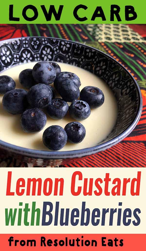 Low Carb Keto Lemon Custard with Blueberries Recipe