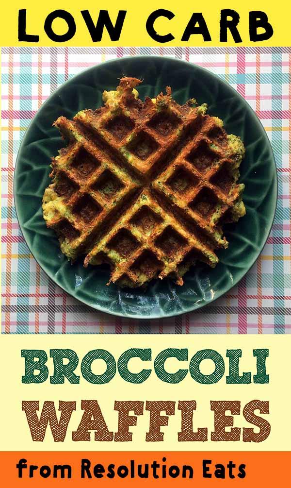 Low Carb Keto Paleo Broccoli Waffles Recipe