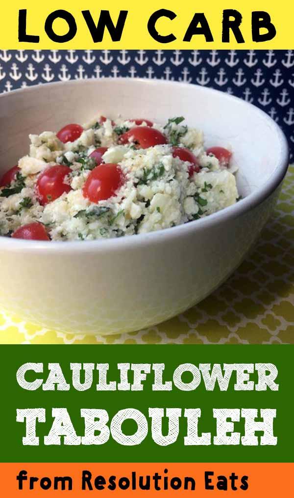 Low Carb Keto Paleo Whole30 Cauliflower Tabouleh Recipe