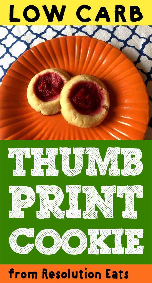 Low Carb Keto Thumb Print Cookie Recipe