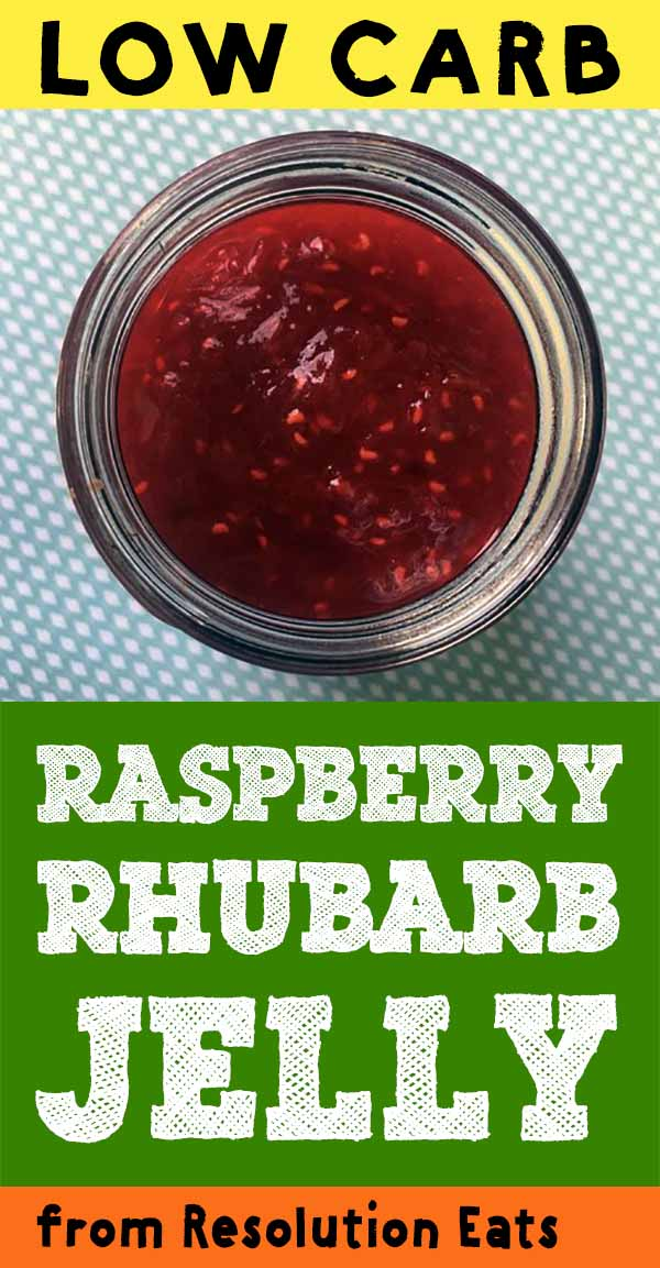Low Carb Keto Jelly Jam Raspberry Rhubarb Recipe