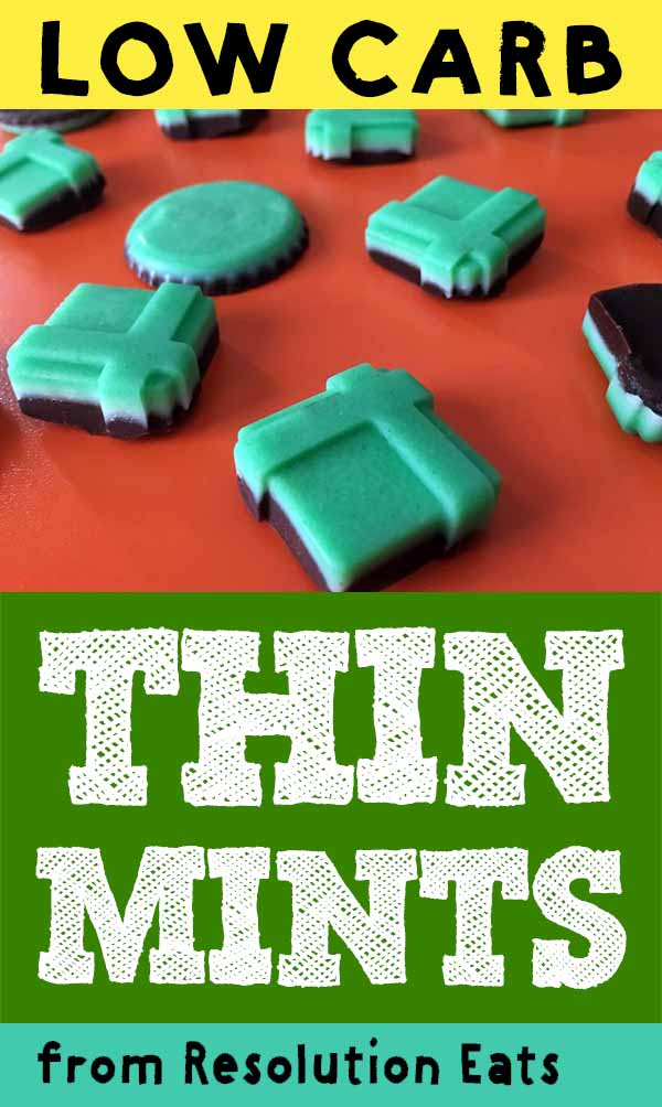 Low Carb Keto Andes Chocolate Thin Mint Candy Recipe