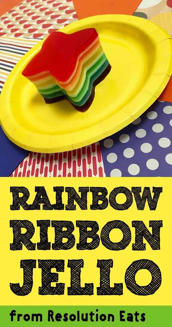 Rainbow Ribbon Layered Jello Recipe