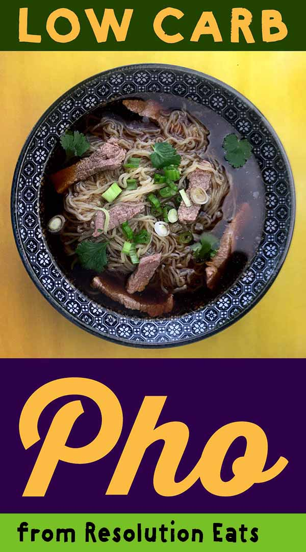 Low Carb Keto Beef Noodle Pho Recipe