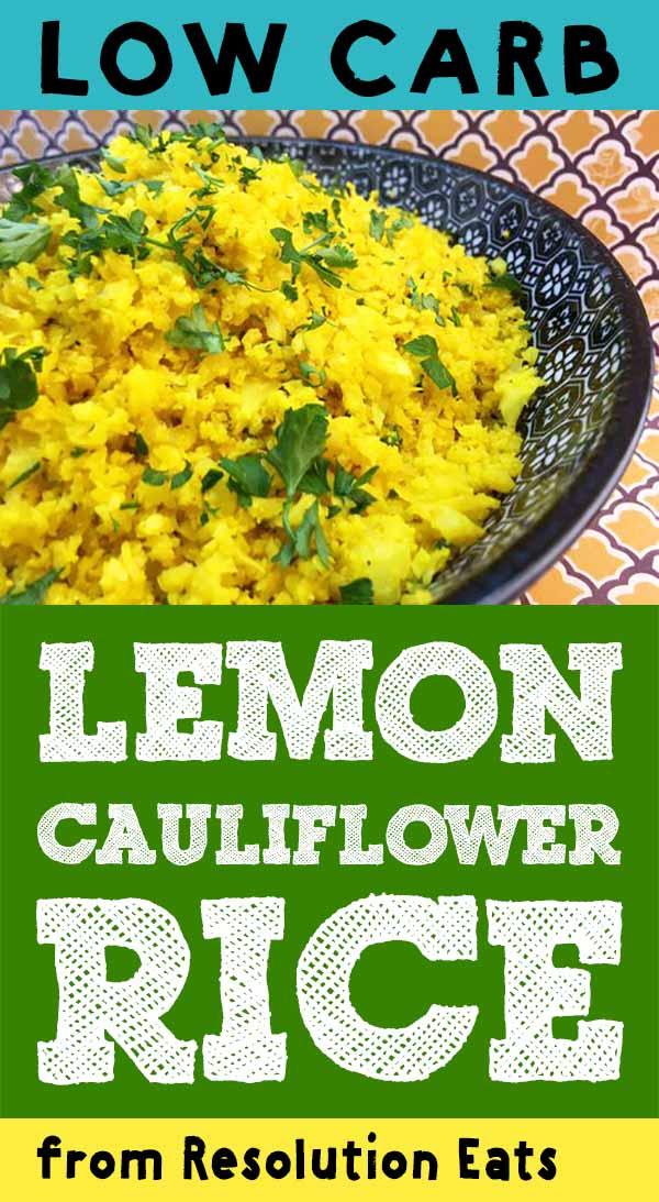 Low Carb Keto Paleo Whole30 Lemon Cauliflower Rice Recipe