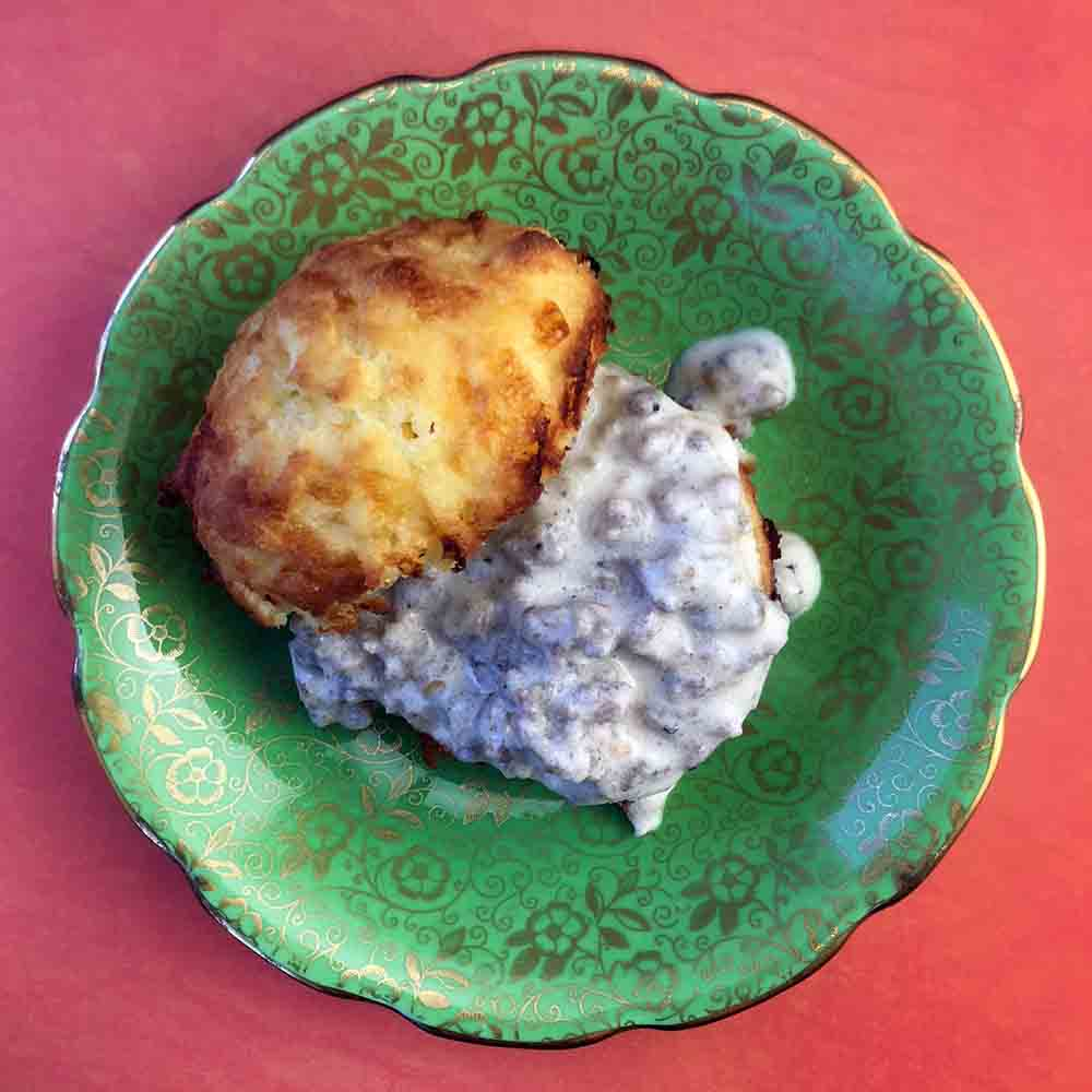 Low Carb Keto Biscuits with Sausage Gravy Recipe
