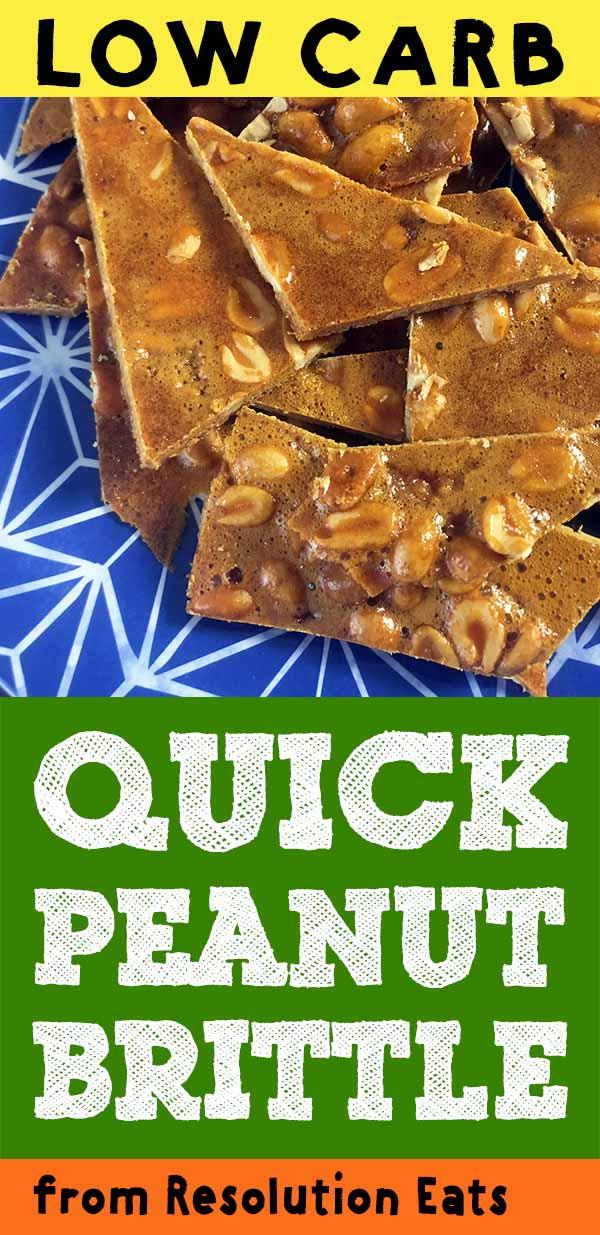 Quick Low Carb Keto Peanut Brittle Recipe