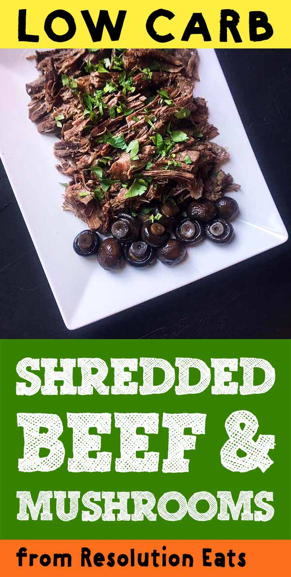 Low Carb Keto Shredded Beef with Mushrooms Recipe
