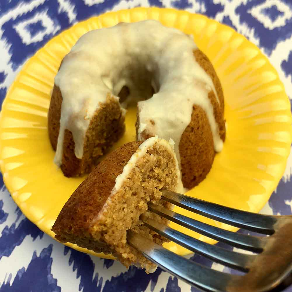 Low Carb Keto Pumpkin Mini Bundt Cakes
