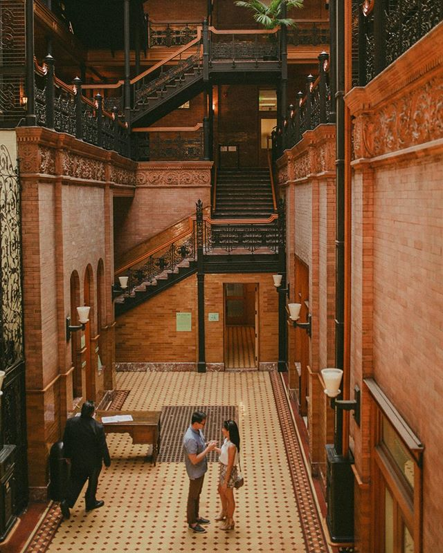 It was our wedding photographers @donmashelen who insisted we shoot in this location. Several movies like 500 Days of Summer and Blade Runner were filmed in Bradbury Building. Super loved being in here!❣️ Comment below your engagement shoot locations, we'd love to hear about them! . . . . . . #nowthatsahoneymoon #travelphoto #relationshipgoals #dametraveler #traveltogether #travelmore #visualsoflife #bestvacations #placesaroundearth #forbesttravelguide #travelguide #doyoutravel #travelguide #instatravel #fantastic_earth #travel #couplestravel #wanderlust #bucketlist #travelgoals #coupleswhotravel #travelandlife #california #heyitsthewongs #donmashelen #awesome_shots #engagement #engagementphotos #bradburybuilding #weddingwire