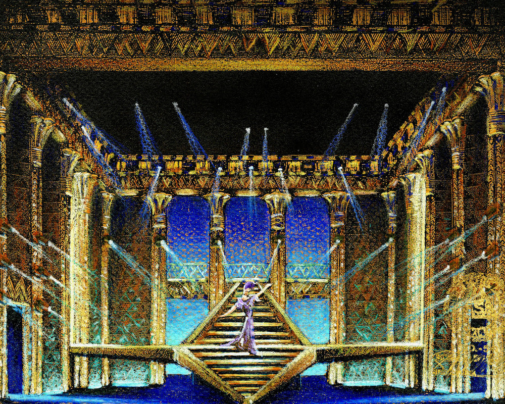 Pyramid Color Concept Sketch for Broadway