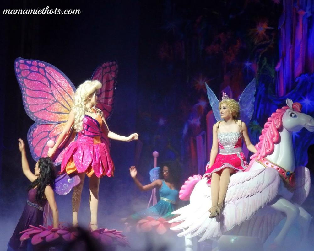 Barbie Mariposa Flash back scene inside the Crystalite Cave close up details.