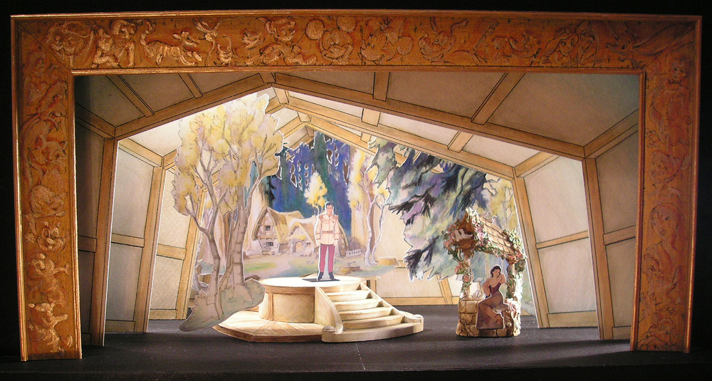 "Selected 1/4""=1' Color Scale Model. Model by Rachel Short Janacko. ""Snow White Wishing Well"""