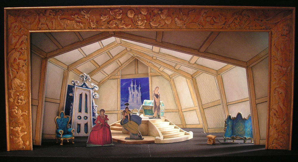 "Selected 1/4""=1' Color Scale Model. Model by Rachel Short Janacko. ""Cinderella's Chateau"""