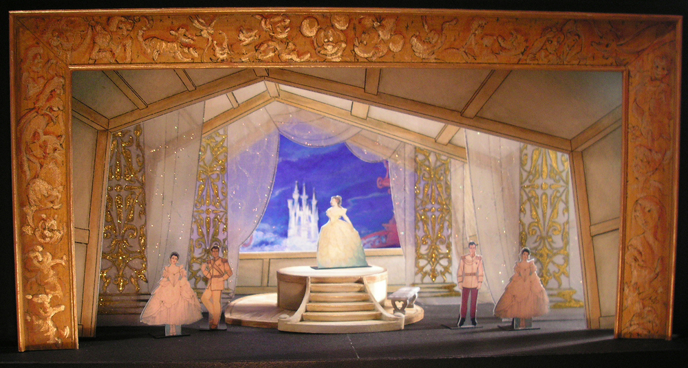 "Selected 1/4""=1' Color Scale Model. Model by Rachel Short Janacko. ""Cinderella Ball"""