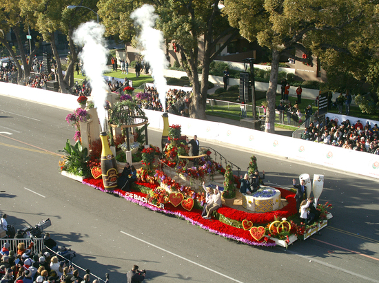 The Bachelor float on the parade route new years day. 2015 Queens Trophy Winner. Photo by Darryl Bender.