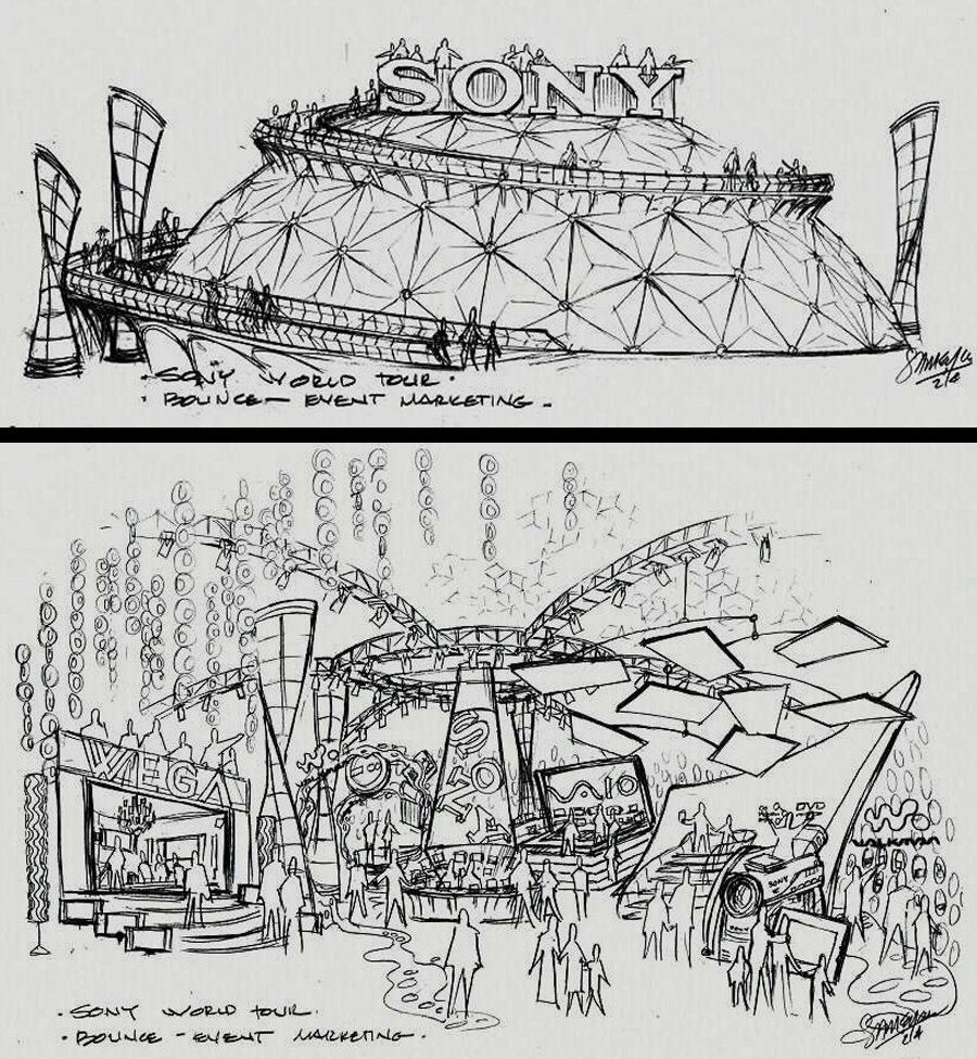 Sony World Tour Concept Sketches - Concept