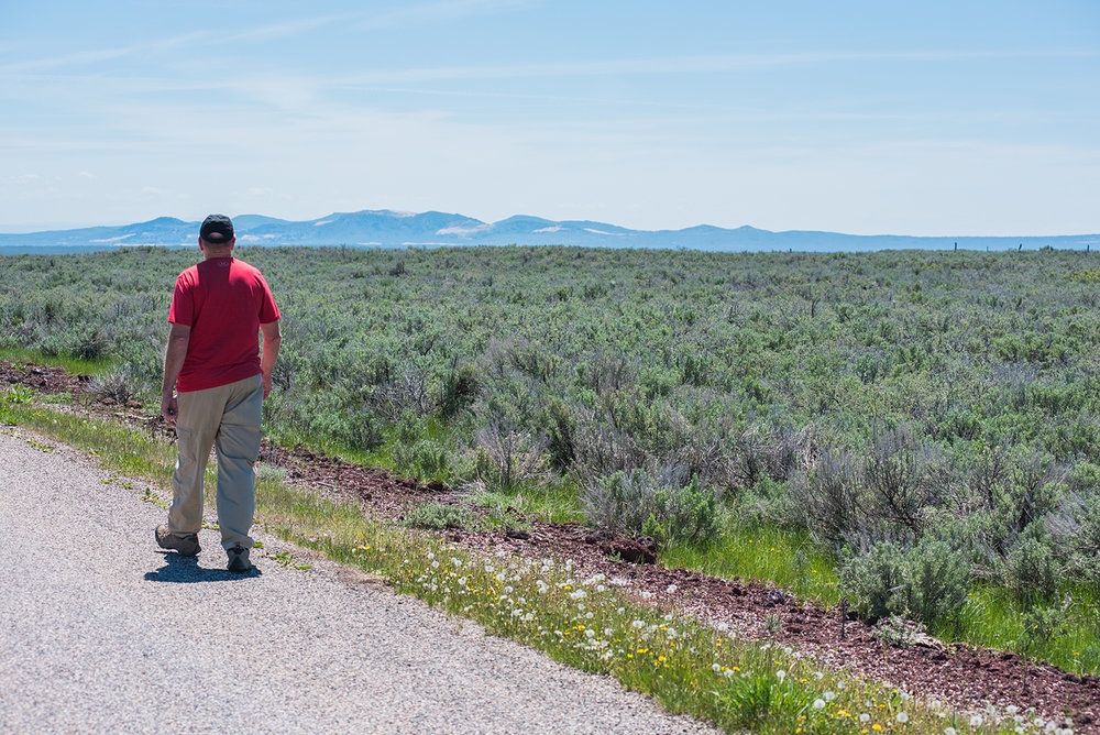 Site Coordinator Rob walking on the Red road