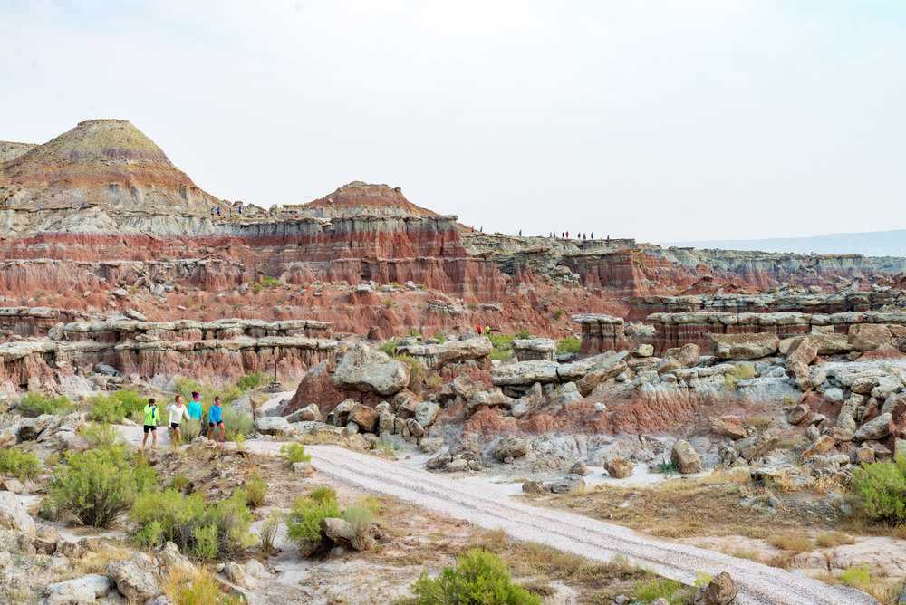 Cyclists explore Gooseberry Badlands on their way from Meeteetse to Thermopolis. Photo by Nick Olson