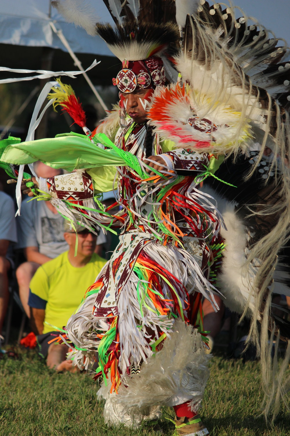Eagle Spirit Fancy Dancer George Abeyta. Photo by Lee Stevenson