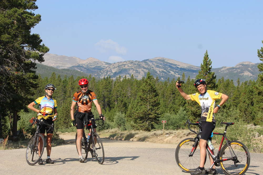 Cyclists taking in the final views of the Wind River range after coming through, up and over Sinks Canyon. Photo by Lee Stevenson