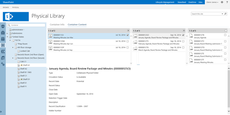 Integrate electronic and physical records management using SharePoint and Collabware CLM.