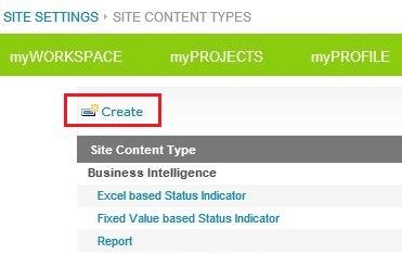 Create Content Type