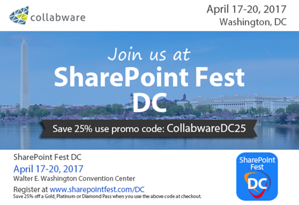 Join Collabware at SharePoint Fest DC 2017.