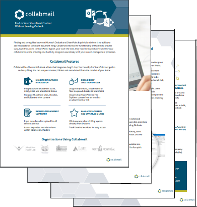 Collabmail brochure and info pack.
