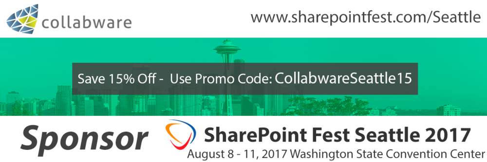Promo Code SharePoint Fest Seattle