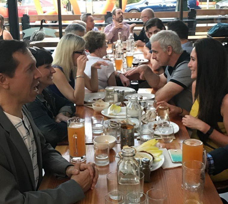 CPAC members meet during the welcome reception at Timber Restaurant.