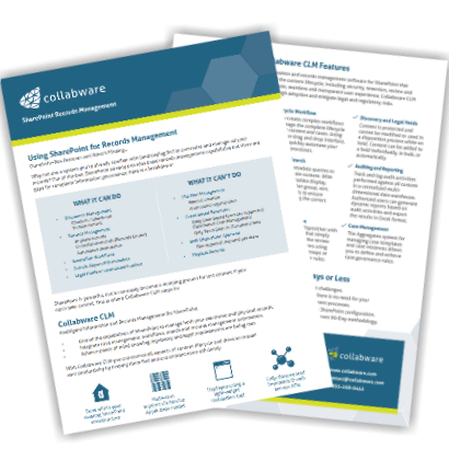 Collabware CLM brochure and info pack.