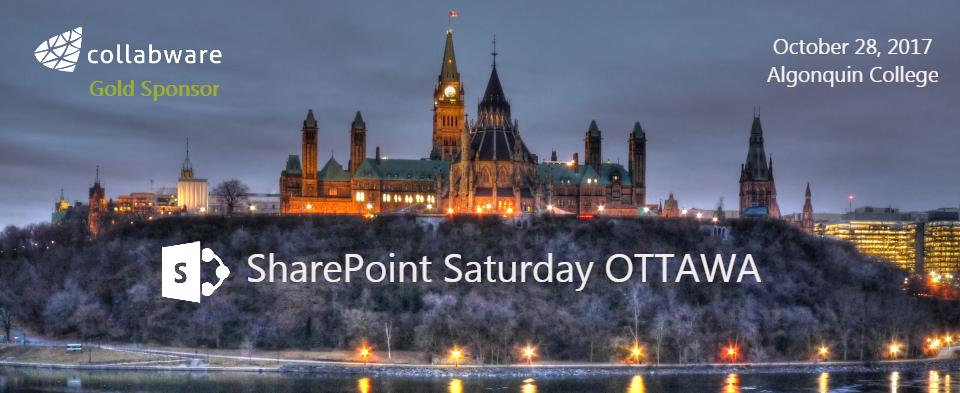 SharePoint Saturday Ottawa 2017, sponsored by Collabware