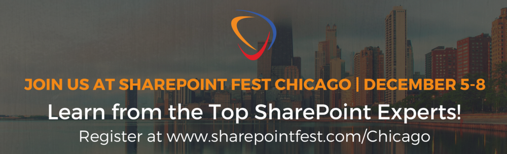 SharePoint Festival Chicago Dec.5-8, 2017
