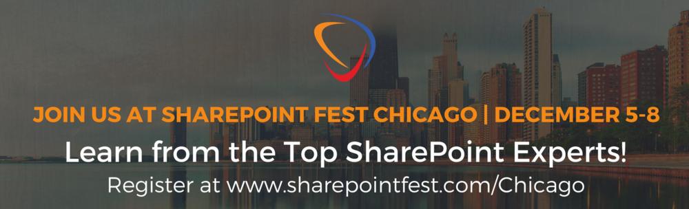 SharePoint Festival Chicago Dec.5-8, 2017