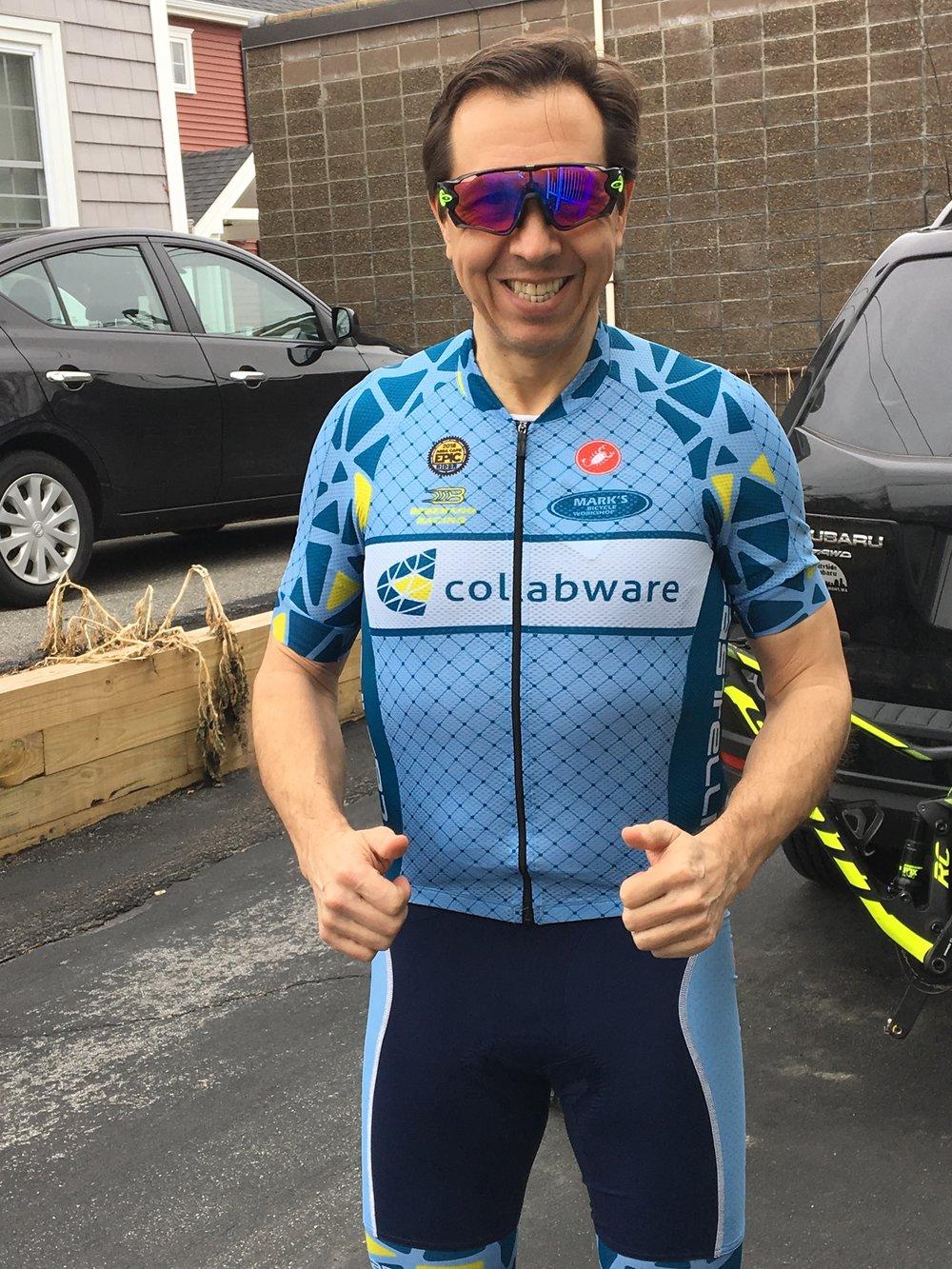 Glenn in Collabware Team Bike Jersey.