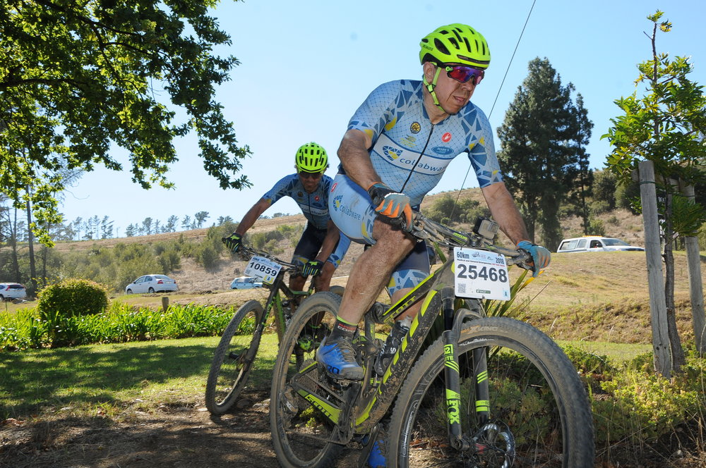 Glenn James in Cape Town Cycle Town MTB Challenge out in South Africa wine country.