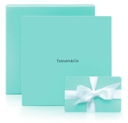 Tiffany Gift Card with box and bow