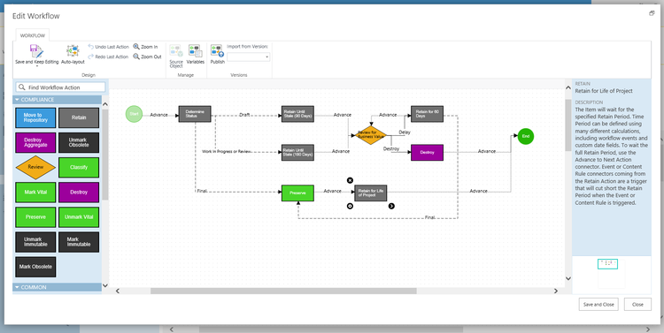 DoD Certified Automated Content Workflow in Collabware CLM for SharePoint.