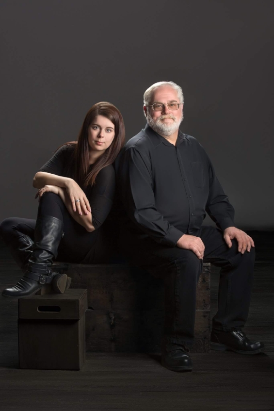 Caitlyn Bom and her father, Kevin Bom
