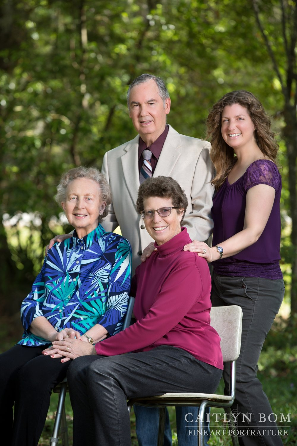 Jennifer Filzen's Family -- pictured clockwise from top: Larry Filzen, Jennifer Filzen, Lydia Colee Filzen, and Marilyn Varn Colee King