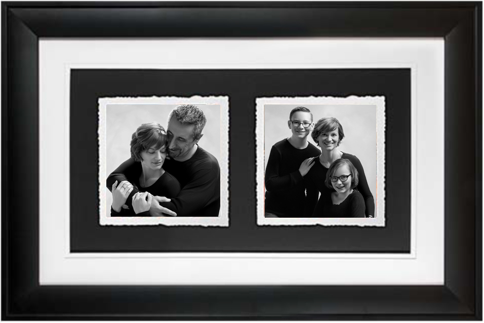 Trio Portrait Frame with beautiful fine art watercolor paper,  hand-torn edges, and completed with float framing. Available for $1199 to participants only! -- Valued at $2499.  (Duo Frame pictured above discontinued)