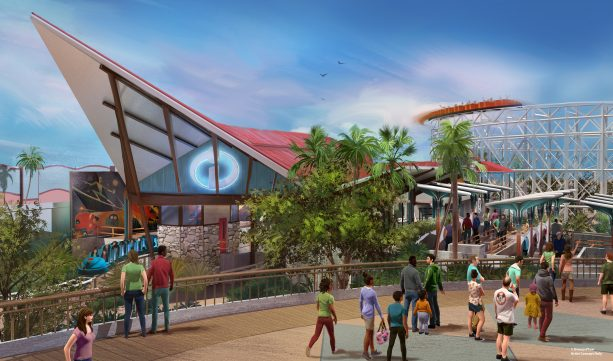 The June 23 opening of Pixar Pier will also include the  Incredicoaster  – a super combination of character figures, lighting and special effects that will bring the Parr family racing alongside you in a high-speed adventure.